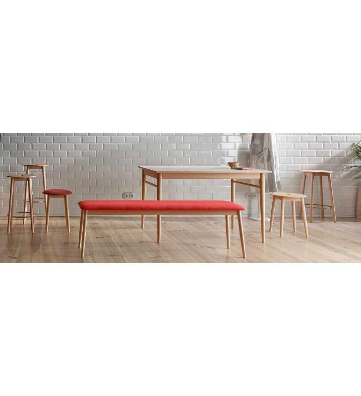 Mesa de comedor fija de estilo nórdico Oto