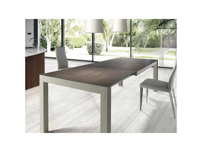 Mesa de comedor extensible Iron, Nacher