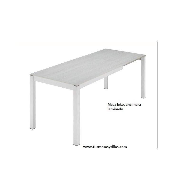 Mesa cocina extensible Leko pata deslizante extensible 60 cmm