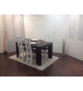 mesa comedor fija comedor en laca o madera