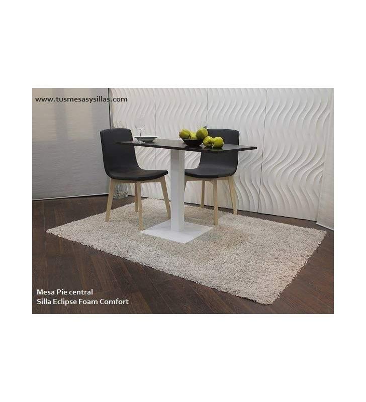 mesa con pie central para cocina comedor hosteleria y a medida