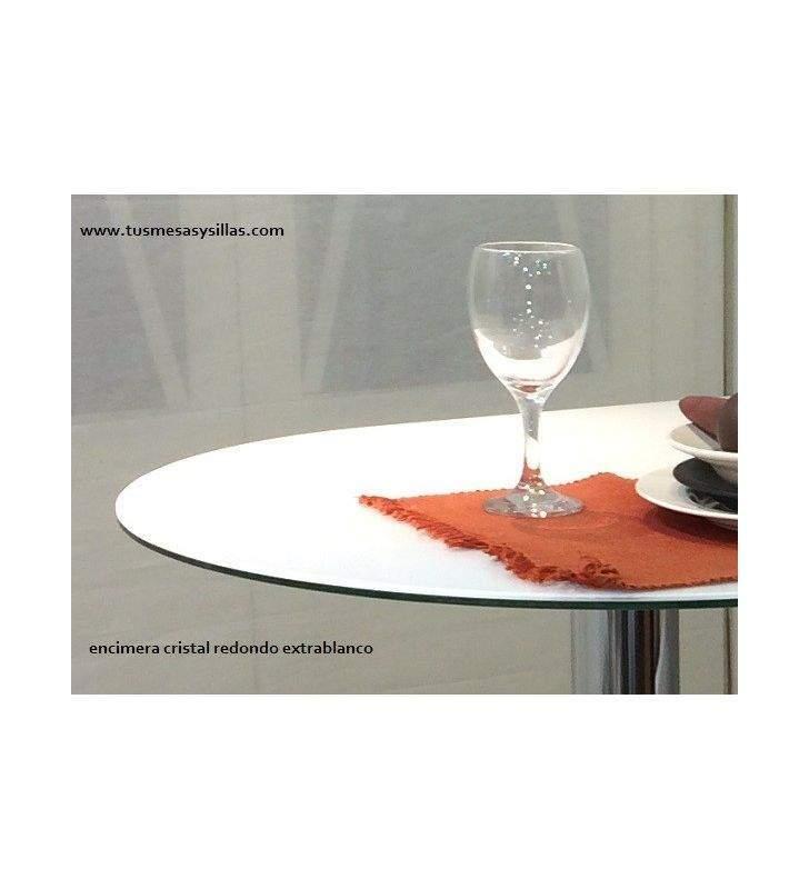 Encimera suelta de cristal redonda