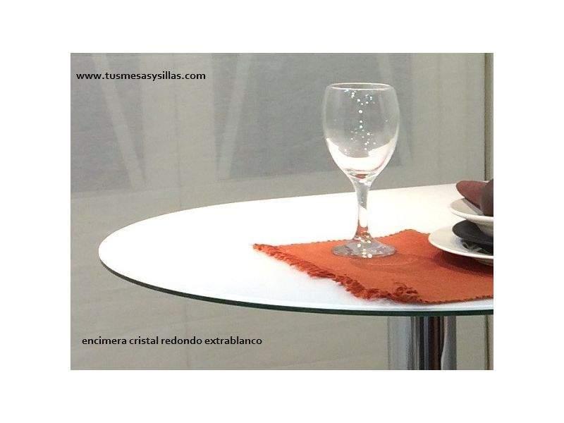 Encimera para mesa de cristal circular suelta