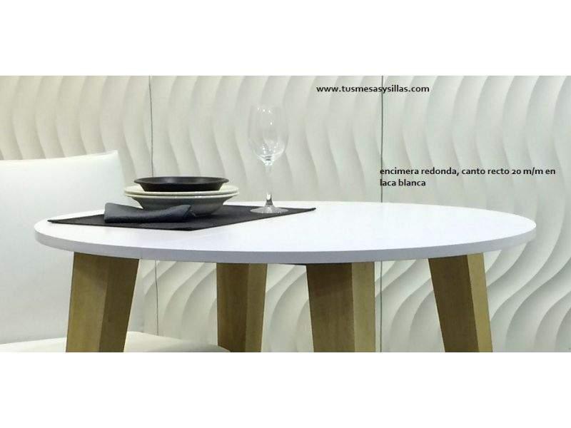 Encimera para mesa de madera  de haya circular suelta