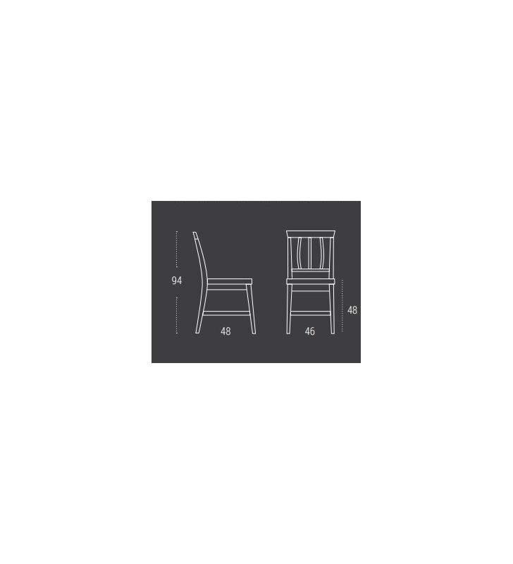 Silla de estilo clasico Aviles en madera de roble
