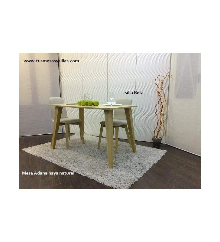 Table Adana en laqué et bois