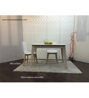 Mesa extensible Adana encimera madera o laca de estilo nórdico