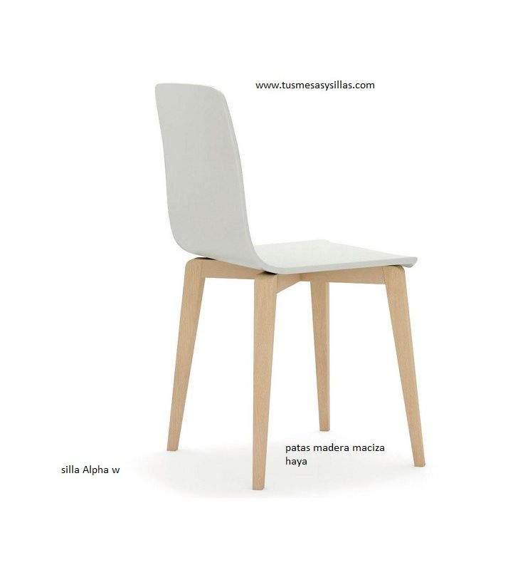 silla alpha-w estilo nordico de vimens