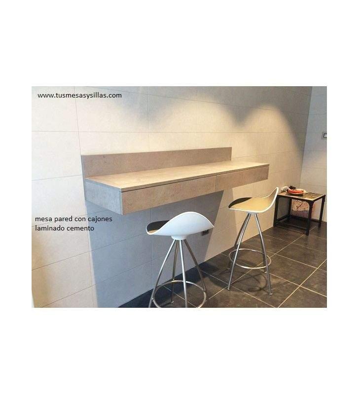 Mesa de cocina alta con cajón Urume