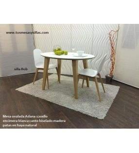 Mesa ovalada extensible hasta 3 m Adana