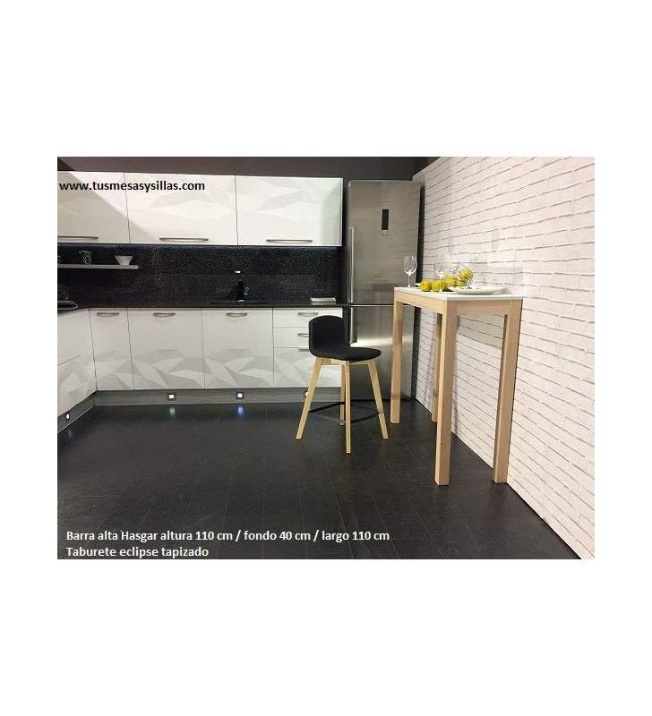 Mesa alta o barra con patas de madera Hasgard