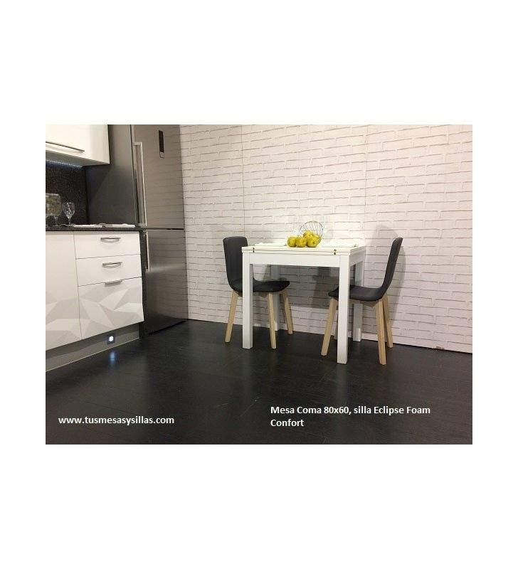 mesa pequeña extensible Coma con cajón