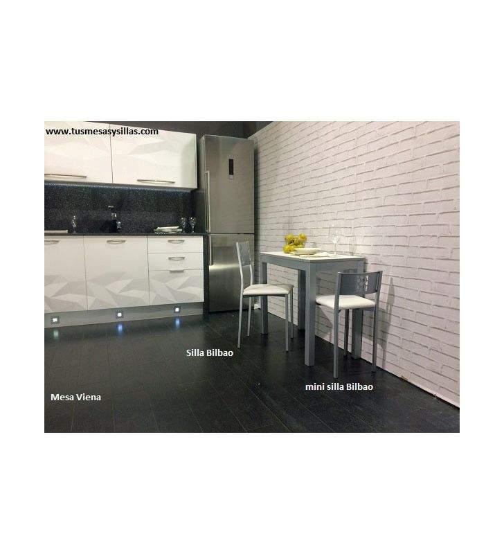 Taburete bajo cocina con respaldo Bilbao