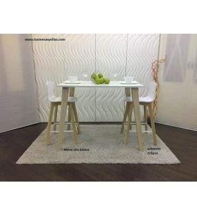 Mesa alta mostrador de estilo nórdico Adana
