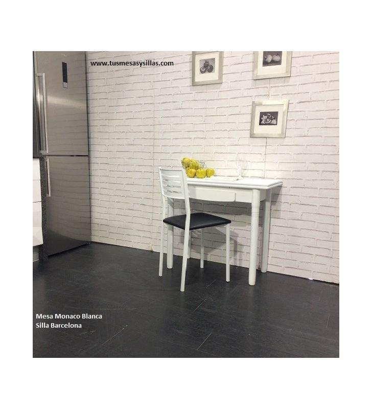 mesa Libro 90x40 extensible y con cajón Monaco
