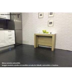 mesa consola extensible nordica 3.6