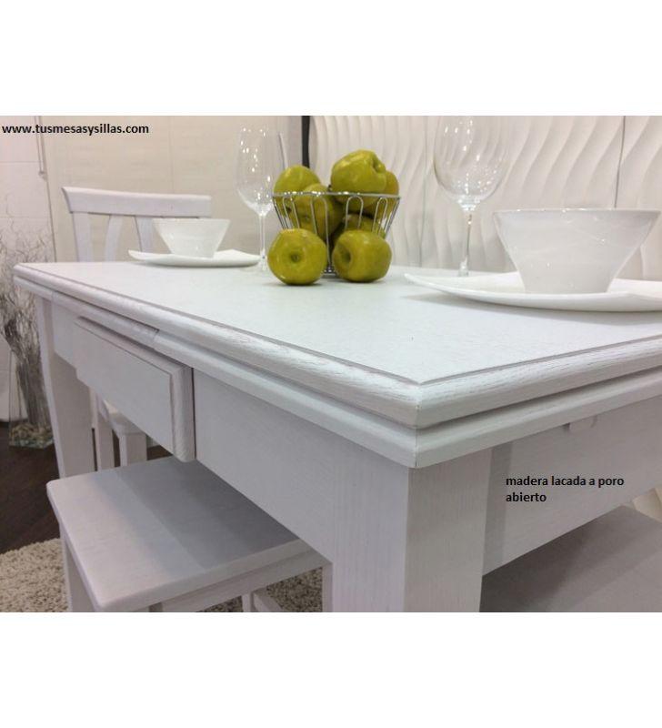 Mesa clasica de cocina o comedor en madera Asturias
