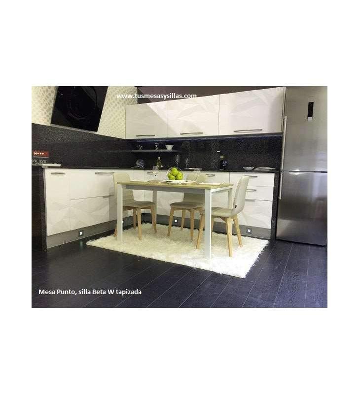 Silla moderna Beta-w para cocina y comedor con patas de madera vimens
