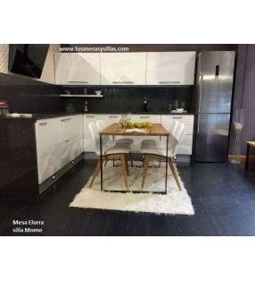 Mesa Elurra extensible madera y metal