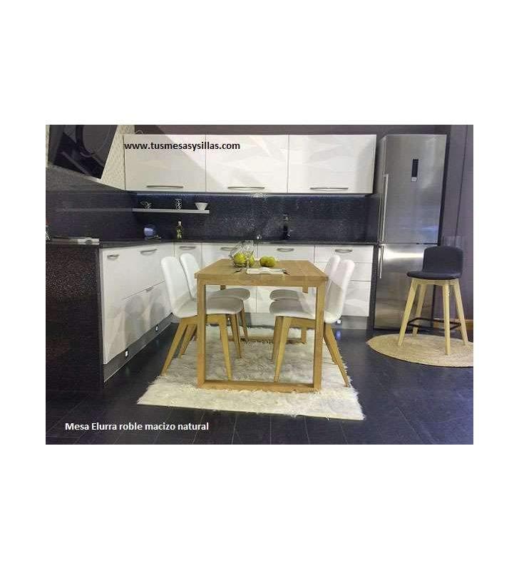 Mesa Elurra, encimera y patas de madera