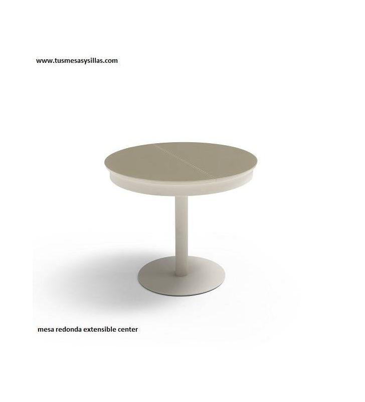 Mesa redonda extensible Center encimera Dekton