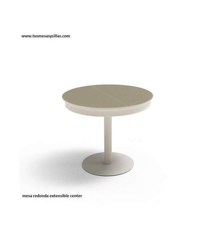 Mesa redonda extensible Center con encimera Ceramica
