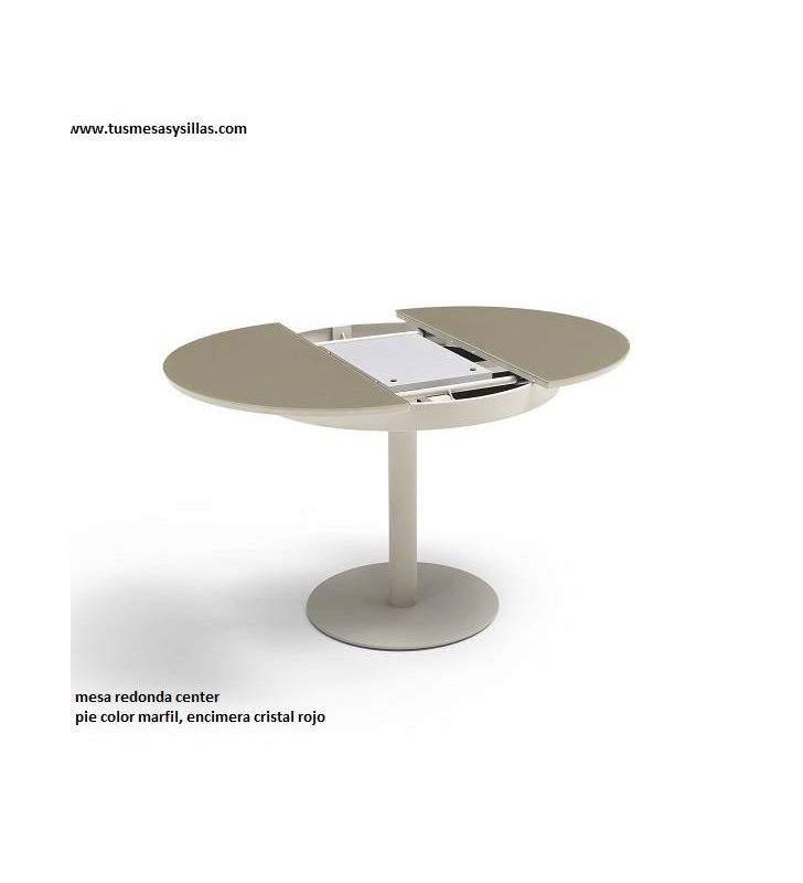 Mesa redonda Center 90 cm encimera en formica y madera