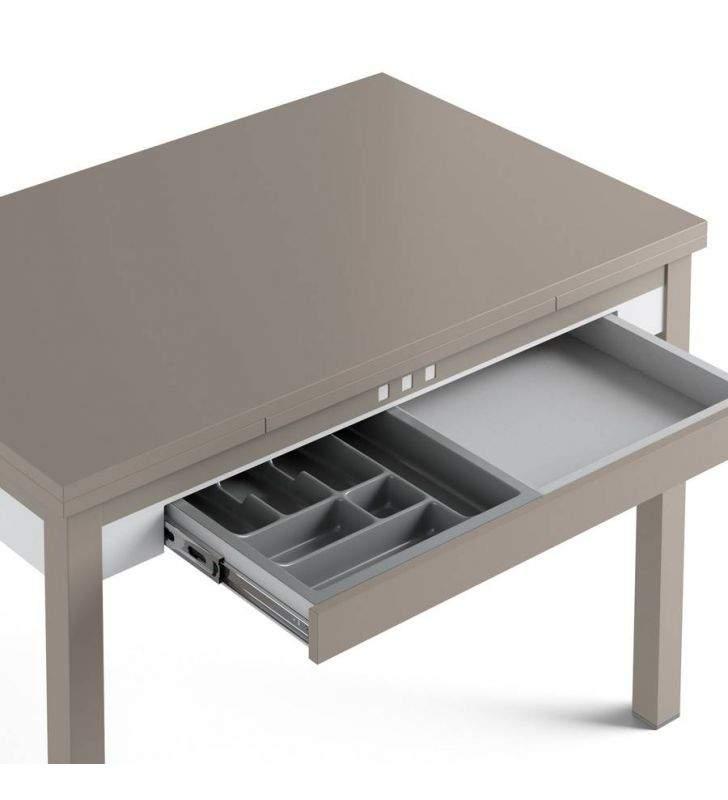 Mesa cocina Claudia extensible y con cajón