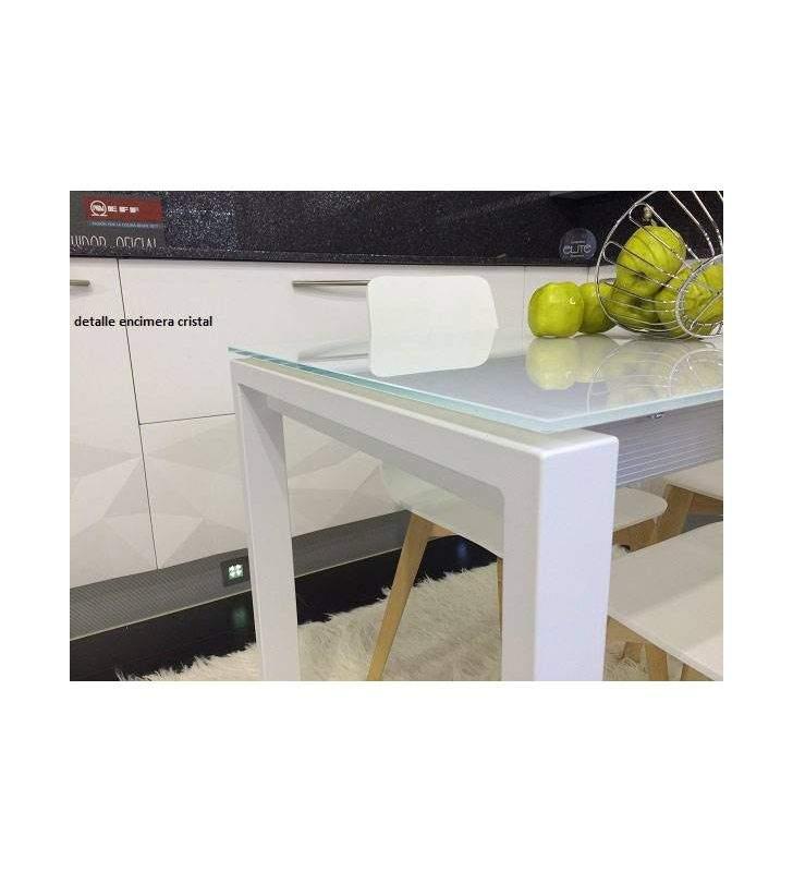 mesa Punto pequeña 90x70cm extensible para cocina de Ondarreta