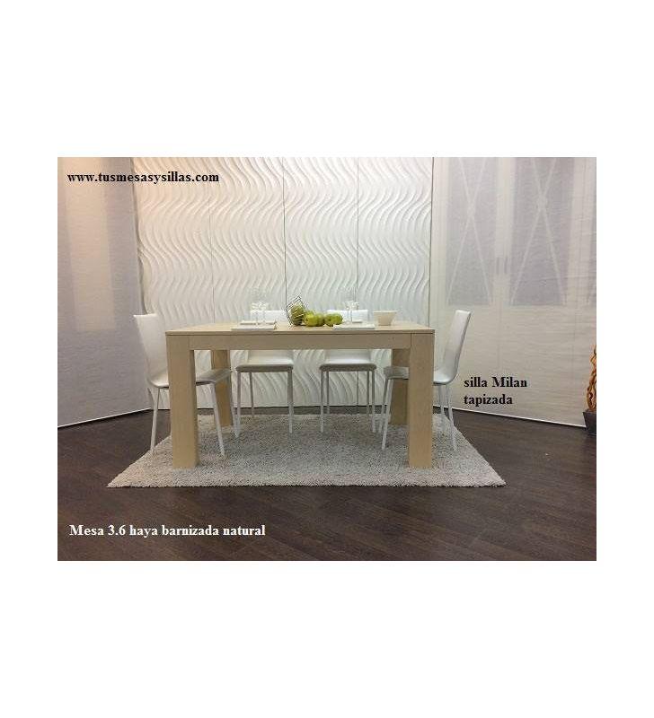 Silla cocina Milan, asiento en laca o madera