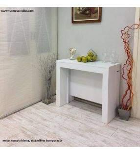 mesa consola extensible moderna