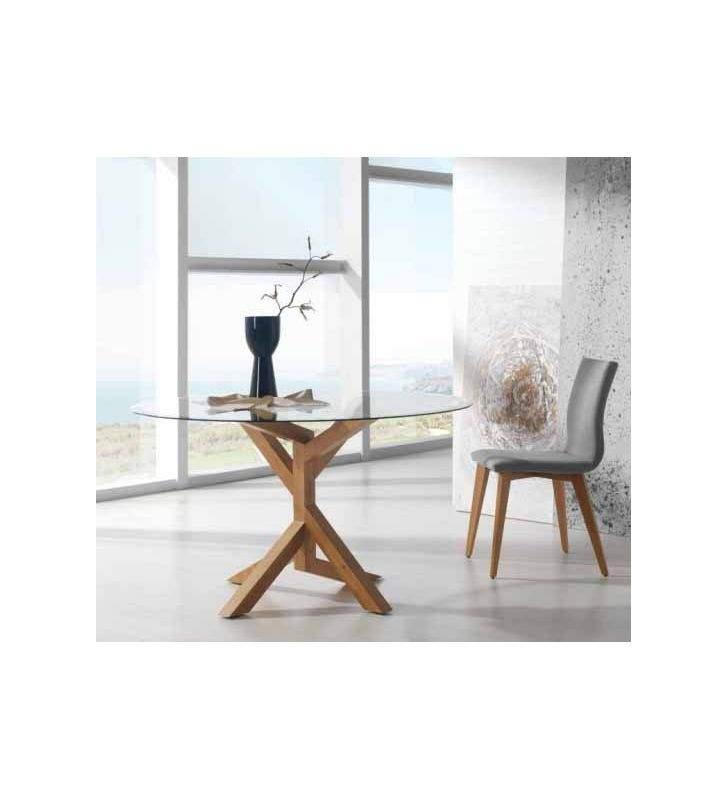 mesa redonda pata madera Tree Wood