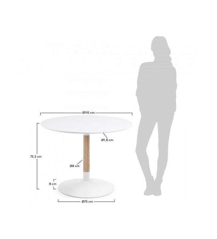 Mesa redonda Tic de estilo nórdico