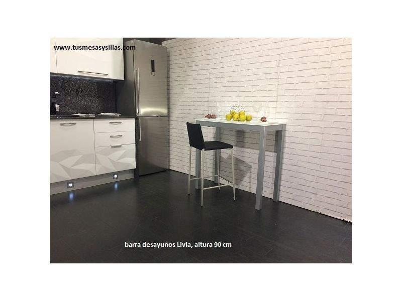 Table Haute Et Etroite Pour Cuisine H90 Livia