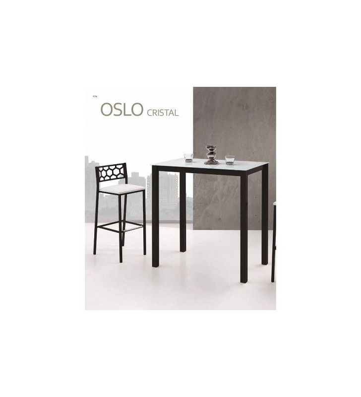 Mesa alta cocina fija Oslo Vimens encimera cristal