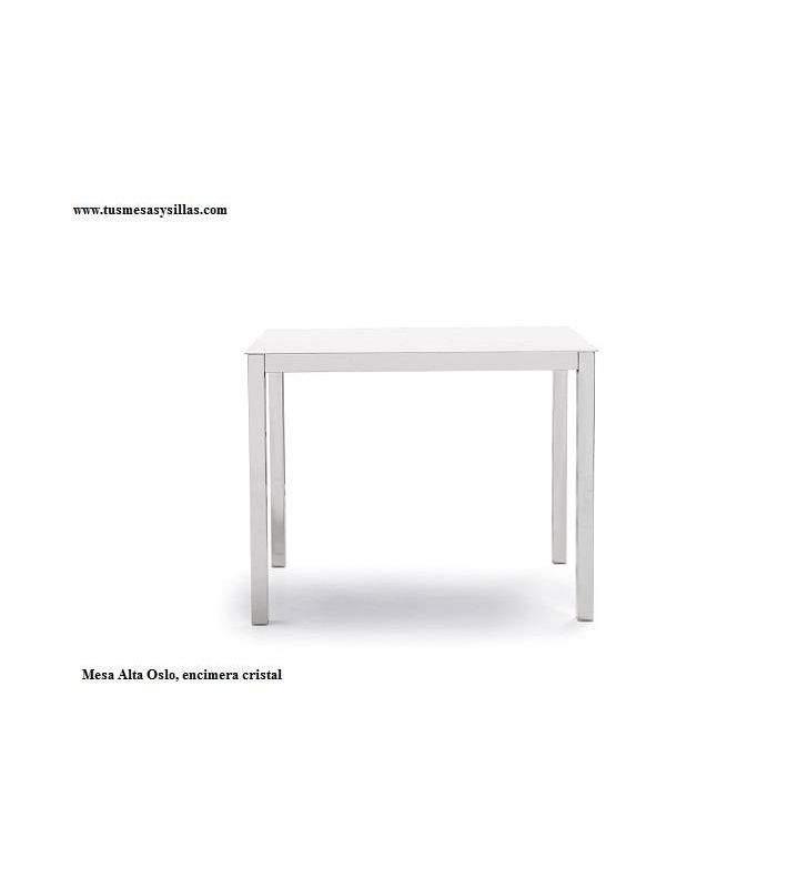 Mesa alta cocina fija Oslo Vimens encimera cristal mate