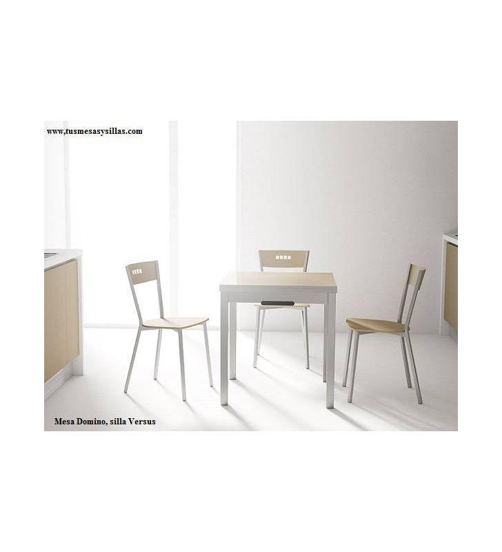 mesa Domino 70x70 cuadrada y extensible cancio