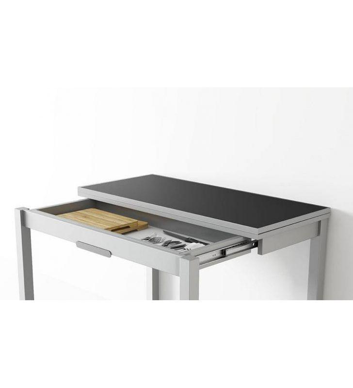 Mesa cocina 100x45  DeLibro y cajón mqm