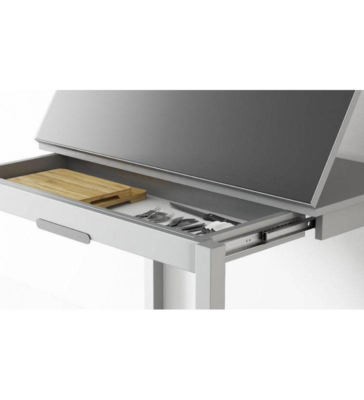 Mesa cocina 100x45  Domino y cajón mqm