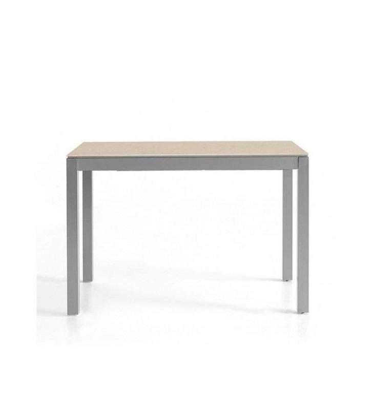 Mesa Penta extensible encimera Silestone moderna para cocina o comedor