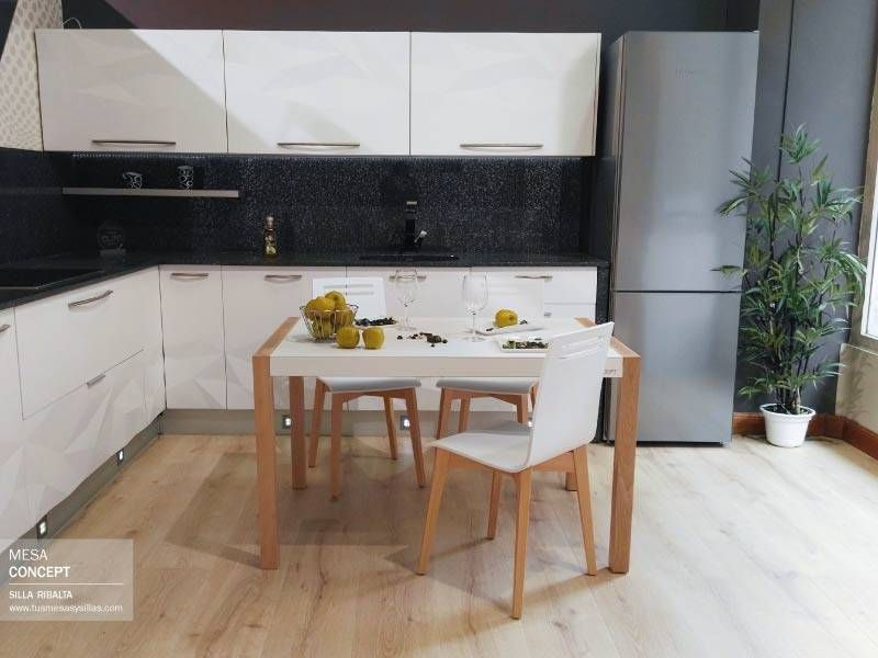 Mesa extensible Concept para comedor de Cancio Vetas, estilo nórdico