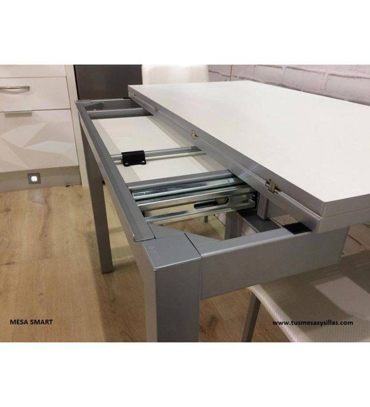 Mesa pequeña Smart de 100x50 cms extensible