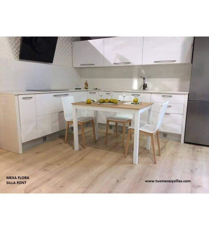 Mesa cocina flora extensible encimera formica brillo y mate