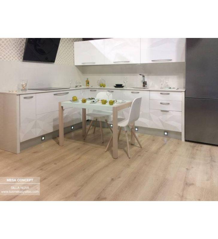 Mesa fija Concept para comedor de Cancio, estilo nórdico