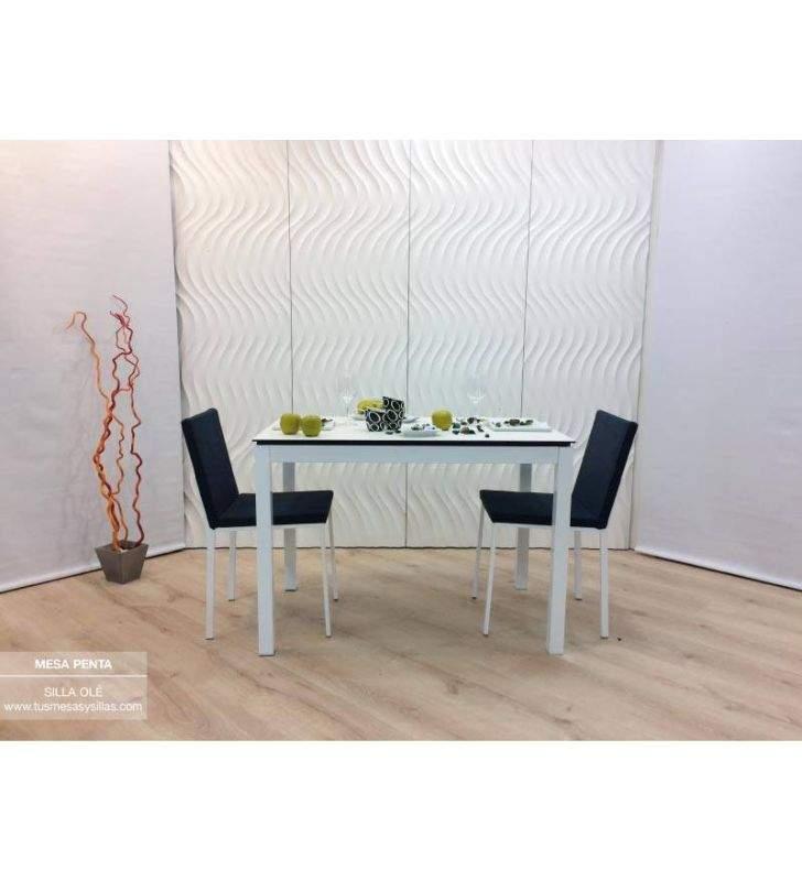 Mesa cocina extensible Penta Mesima encimera cerámic