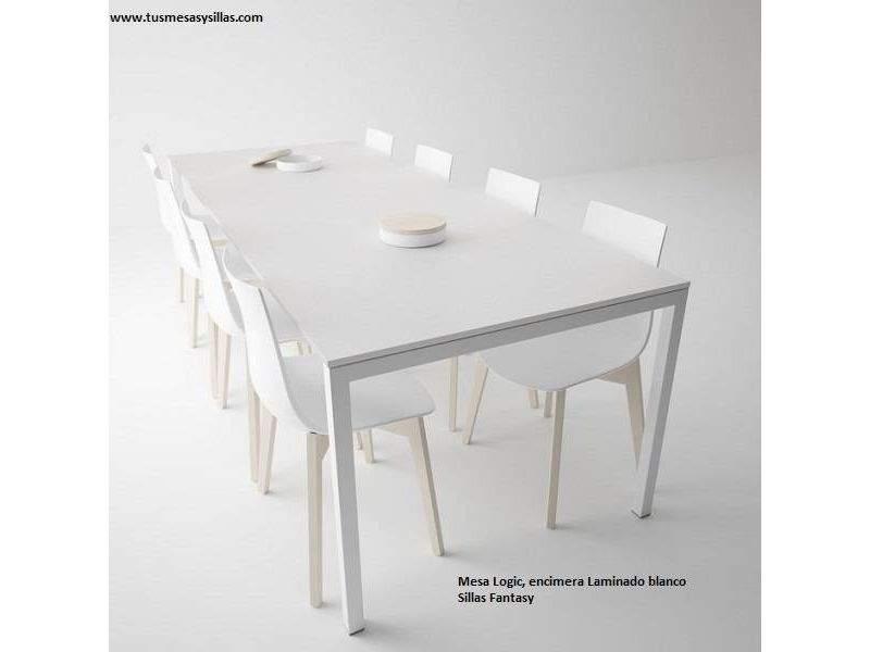 Mesa fija de cocina en laminado Logic de Cancio