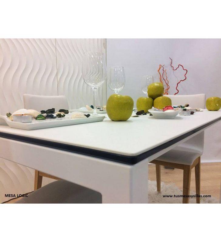 Mesa cuadrada Logic encimera ceramica