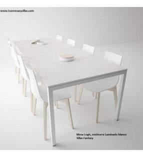 Mesa fija Logic XL con encimera en laminado