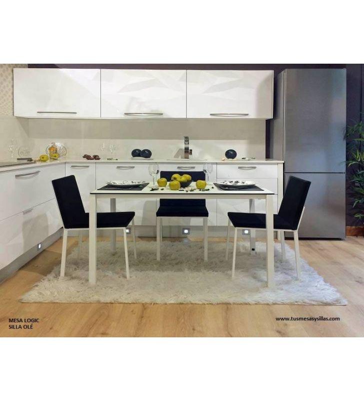 Mesa de cocina Logic en cerámica de Cancio