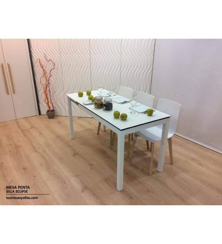 Mesa cocina extensible Penta Mesima encimera cerámica